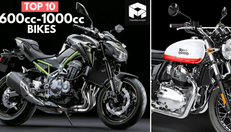 Top 10 Best-Selling 600cc-1000cc Motorcycles in India