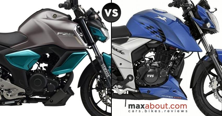 Yamaha FZS V3 vs TVS Apache RTR 160 4V