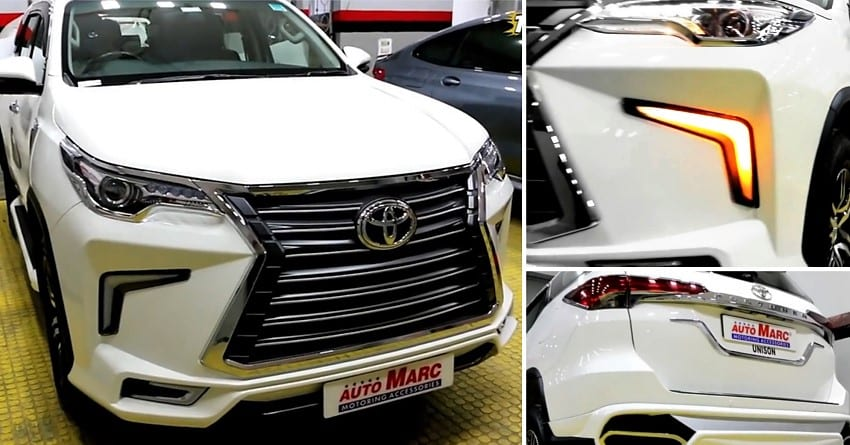 Meet Modified Toyota Fortuner With Lexus Lx570 Inspired Front Grille