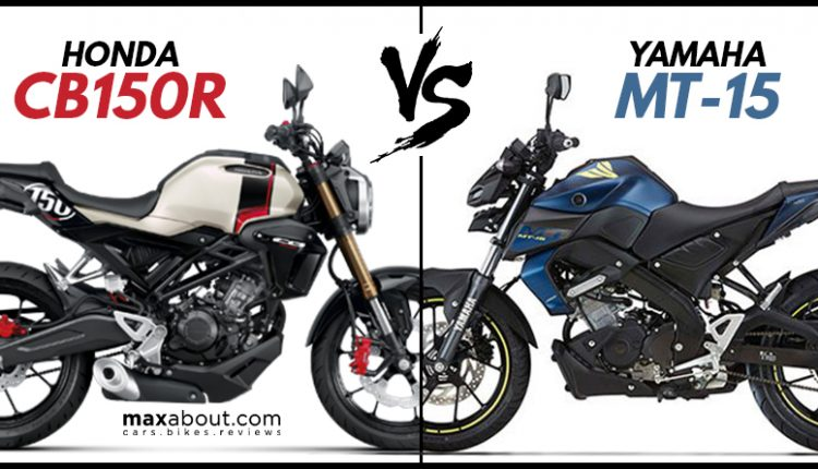 Quick Comparison: Honda CB150R Streetster vs Yamaha MT-15