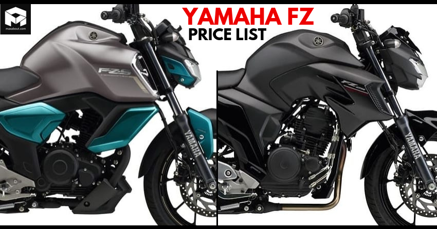 Latest Yamaha FZ Series Price List in India [UPDATED]
