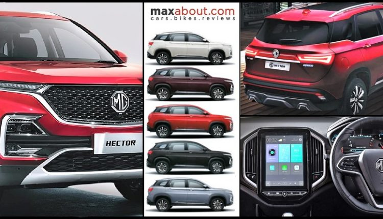 MG Hector Price List, Specs, Mileage, Colors and Variant-Wise Features