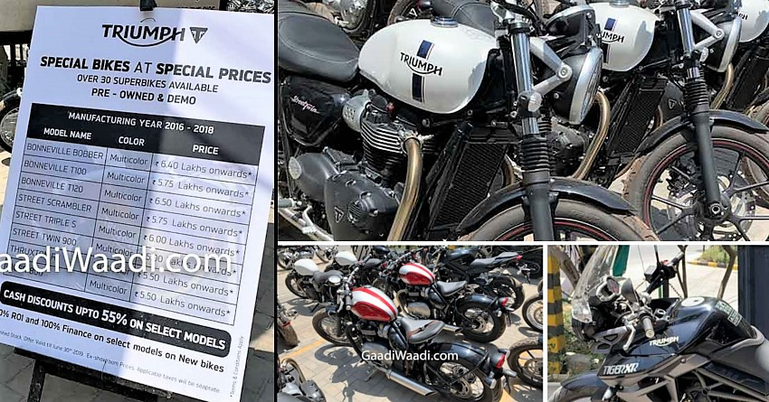 Triumph Motorcycles Discounts India