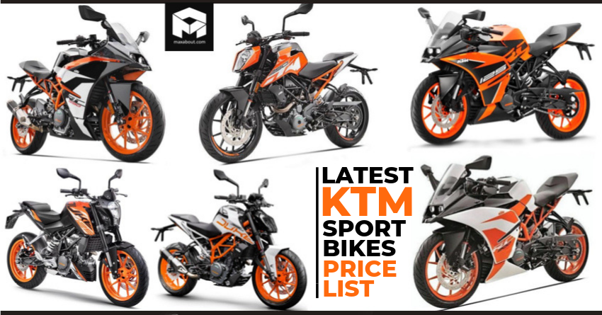 2019 KTM RC & Duke ABS Motorcycles