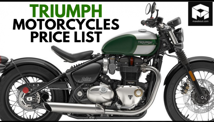 Latest Triumph Motorcycles Price List in India [UPDATED]