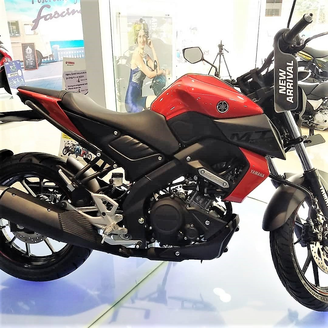Red Yamaha Mt 15 Spotted At A Dealership In India