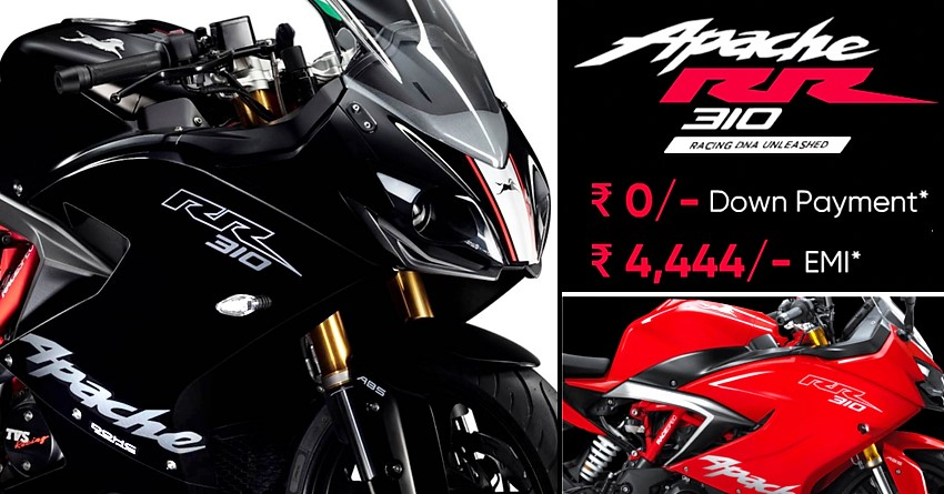 TVS Apache RR 310 EMI Offer