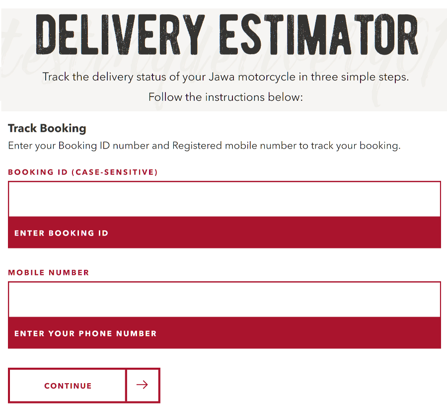 Jawa Delivery Estimator Launched