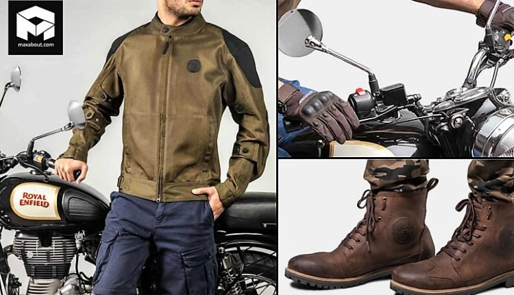 Royal Enfield Jackets, Gloves and Shoes Price List in India