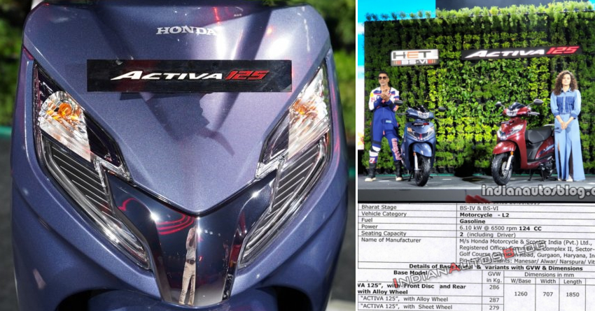 BS6 Honda Activa 125 Key Specifications Leaked