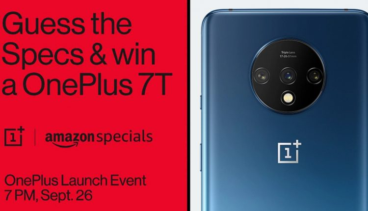 OnePlus 7T Listed on Amazon India; Guess the Specs & Win OnePlus 7T