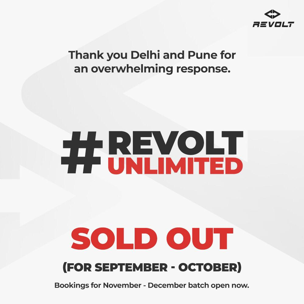 Revolt Electric Motorcycles Sold Out