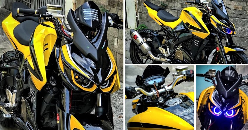 Bajaj Pulsar NS200 Modified into Kawasaki Z1000