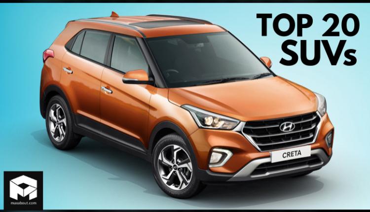 Top 20 Best-Selling SUVs in India (November 2019)