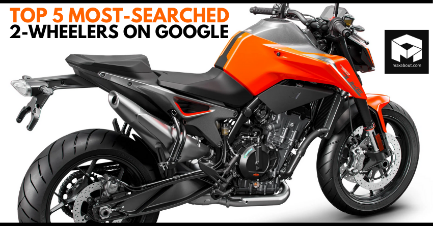 Top 5 Most-Searched 2-Wheelers