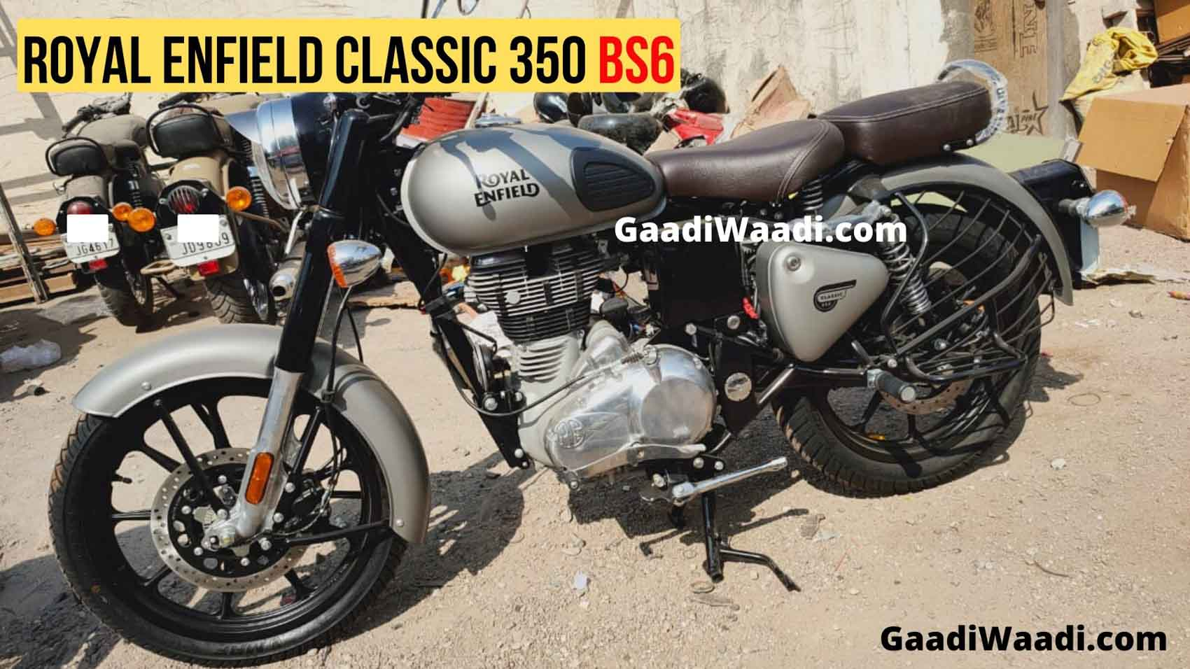 Live Photos Bs6 Royal Enfield Classic 350 Gunmetal Grey Spotted