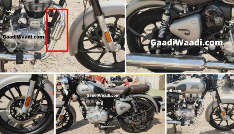 Live Photos: BS6 Royal Enfield Classic 350 Gunmetal Grey Spotted