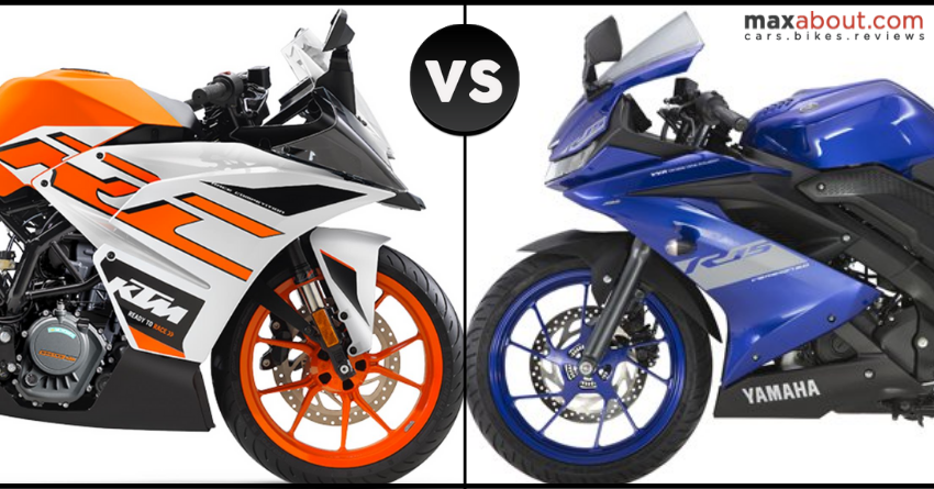 BS6 KTM RC 125 vs BS6 Yamaha R15 V3