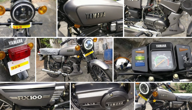 Yamaha RX 100 Gunmetal Grey: The Best-Ever Modified RX 100