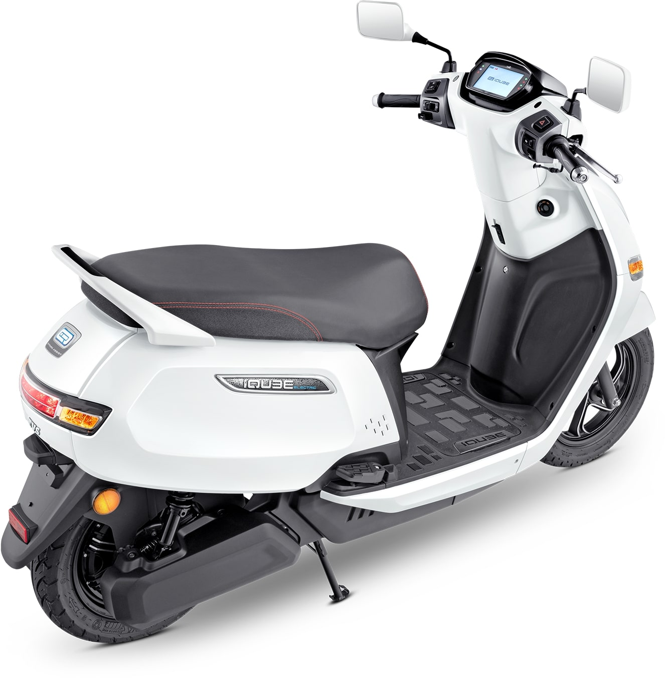 TVS iQube Electric Scooter Rear 3-Quarter View