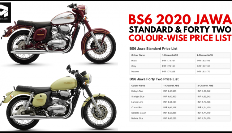 BS6 Jawa Standard and Forty Two Launched; Full Price List Revealed