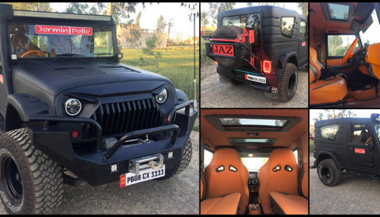 Stealth Black Mahindra Thar with 2 Sunroofs & All-Leather Interior