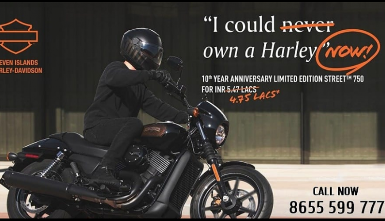 Harley-Davidson Street 750 Available with INR 72,000 Discount