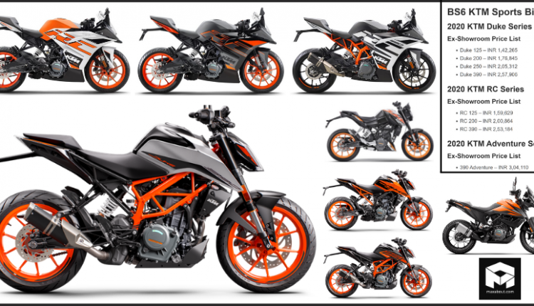 BS6 KTM Sports Bikes Price List in India [Full Lineup]