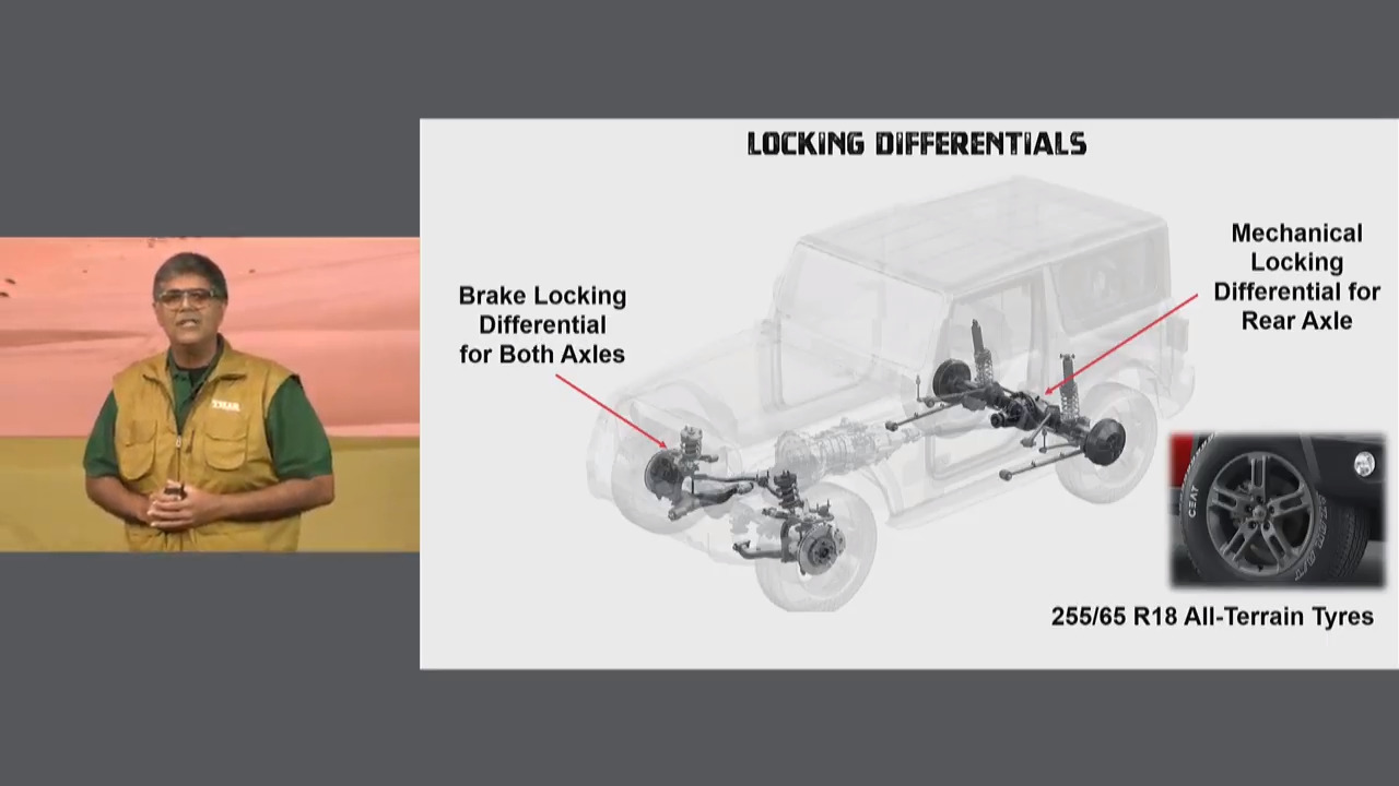 New Mahindra Thar Locking Differentials