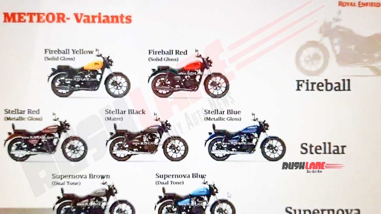 Royal Enfield Meteor 350 Colour Options