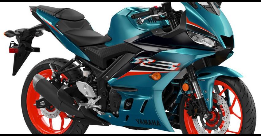 Electric Teal Yamaha R3 Sportbike