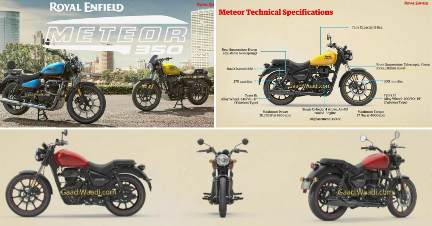 Royal Enfield Meteor 350 Full Specs Revealed