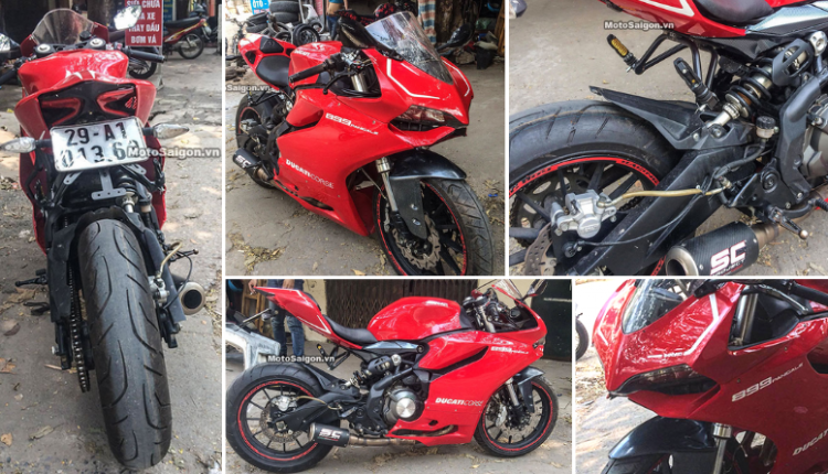 Benelli TNT 300 Modified to Look Like a Ducati 899 Panigale Superbike