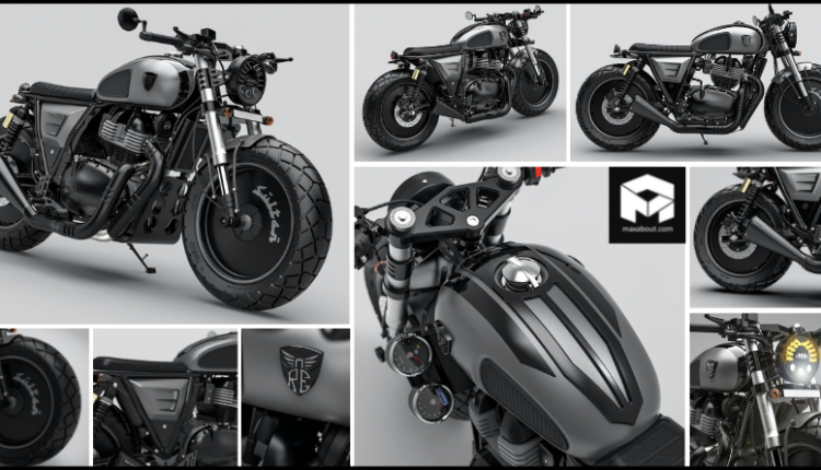 Meet Sultan 650 with 3D Royal Enfield Logo and All-Black Body Parts